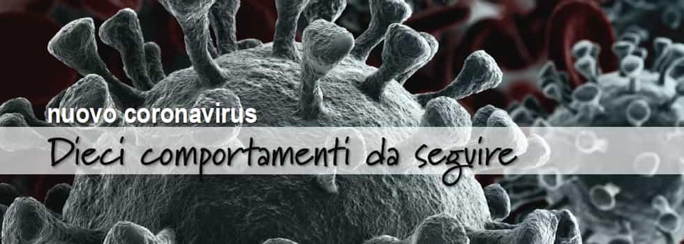 Nuovo corona virus 10 comportamenti da seguire - Istituto Superiore della Sanità